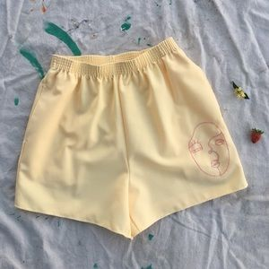 Hand-Embroidered Shorts ♡